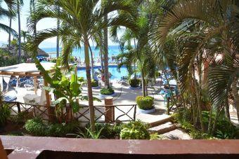 La vue de mon balcon/bureau, à l'hôtel Las Palmas by the Sea, du 14 au 28 janvier 2016.
