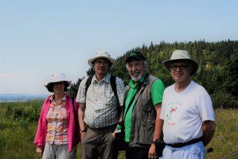 Équipe chercheurs botryches au Bic